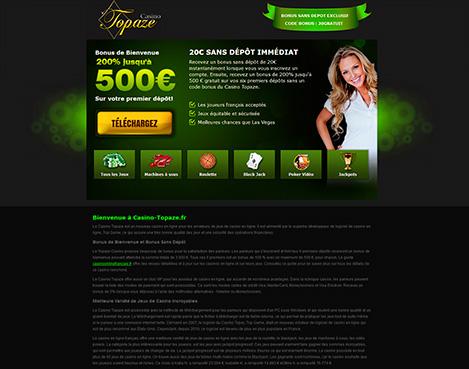 Topaze casino en ligne bear trap poker